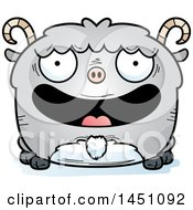 Clipart Graphic Of A Cartoon Happy Goat Character Mascot Royalty Free Vector Illustration