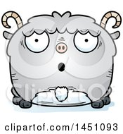 Clipart Graphic Of A Cartoon Surprised Goat Character Mascot Royalty Free Vector Illustration
