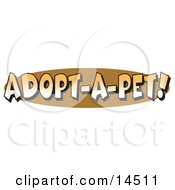 Internet Web Button Reading Adopt A Pet Clipart Illustration