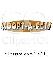 Internet Web Button Reading Adopt-A-Pet
