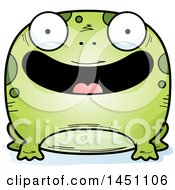 Clipart Graphic Of A Cartoon Happy Frog Character Mascot Royalty Free Vector Illustration
