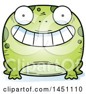 Clipart Graphic Of A Cartoon Grinning Frog Character Mascot Royalty Free Vector Illustration by Cory Thoman