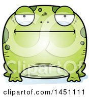 Clipart Graphic Of A Cartoon Bored Frog Character Mascot Royalty Free Vector Illustration by Cory Thoman