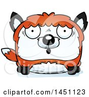 Clipart Graphic Of A Cartoon Surprised Fox Character Mascot Royalty Free Vector Illustration