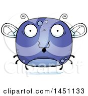 Clipart Graphic Of A Cartoon Surprised Fly Character Mascot Royalty Free Vector Illustration