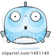 Clipart Graphic Of A Cartoon Surprised Fish Character Mascot Royalty Free Vector Illustration