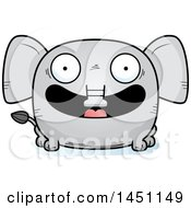 Clipart Graphic Of A Cartoon Happy Elephant Character Mascot Royalty Free Vector Illustration by Cory Thoman