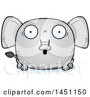 Clipart Graphic Of A Cartoon Surprised Elephant Character Mascot Royalty Free Vector Illustration