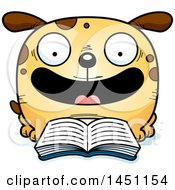 Cartoon Reading Dog Character Mascot