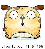 Cartoon Surprised Dog Character Mascot