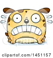 Cartoon Scared Dog Character Mascot