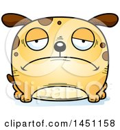 Cartoon Sad Dog Character Mascot