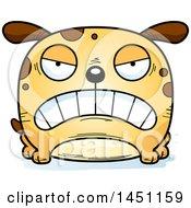 Cartoon Mad Dog Character Mascot
