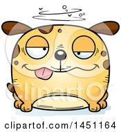 Cartoon Drunk Dog Character Mascot