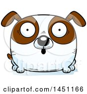 Cartoon Surprised Brown And White Dog Character Mascot