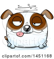 Cartoon Drunk Brown And White Dog Character Mascot