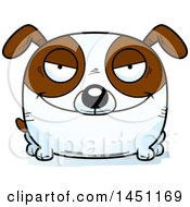 Cartoon Evil Brown And White Dog Character Mascot