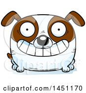 Cartoon Grinning Brown And White Dog Character Mascot