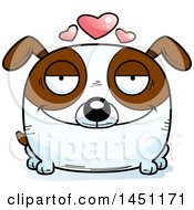 Cartoon Loving Brown And White Dog Character Mascot