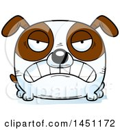 Cartoon Mad Brown And White Dog Character Mascot