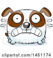 Cartoon Scared Brown And White Dog Character Mascot