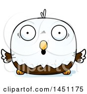 Cartoon Surprised Bald Eagle Character Mascot