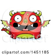 Clipart Graphic Of A Cartoon Happy Dragon Character Mascot Royalty Free Vector Illustration