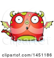 Clipart Graphic Of A Cartoon Surprised Dragon Character Mascot Royalty Free Vector Illustration