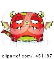 Clipart Graphic Of A Cartoon Sad Dragon Character Mascot Royalty Free Vector Illustration