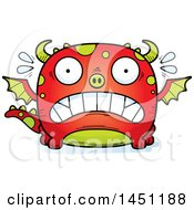 Clipart Graphic Of A Cartoon Scared Dragon Character Mascot Royalty Free Vector Illustration