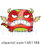 Clipart Graphic Of A Cartoon Mad Dragon Character Mascot Royalty Free Vector Illustration
