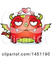 Clipart Graphic Of A Cartoon Loving Dragon Character Mascot Royalty Free Vector Illustration