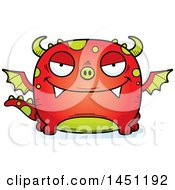 Clipart Graphic Of A Cartoon Evil Dragon Character Mascot Royalty Free Vector Illustration