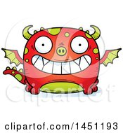 Clipart Graphic Of A Cartoon Grinning Dragon Character Mascot Royalty Free Vector Illustration