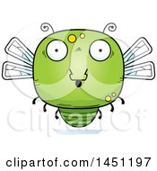 Clipart Graphic Of A Cartoon Surprised Dragonfly Character Mascot Royalty Free Vector Illustration