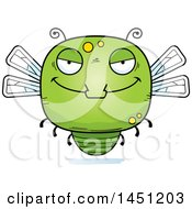 Clipart Graphic Of A Cartoon Evil Dragonfly Character Mascot Royalty Free Vector Illustration by Cory Thoman