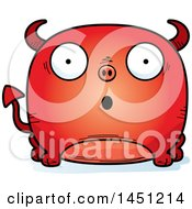 Clipart Graphic Of A Cartoon Surprised Devil Character Mascot Royalty Free Vector Illustration