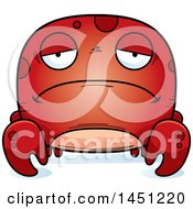 Clipart Graphic Of A Cartoon Sad Crab Character Mascot Royalty Free Vector Illustration