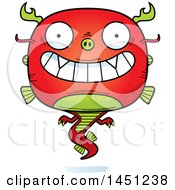 Clipart Graphic Of A Cartoon Grinning Chinese Dragon Character Mascot Royalty Free Vector Illustration