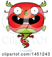Clipart Graphic Of A Cartoon Happy Chinese Dragon Character Mascot Royalty Free Vector Illustration
