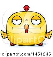 Poster, Art Print Of Cartoon Bored Chick Character Mascot