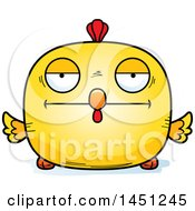Cartoon Bored Chick Character Mascot