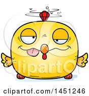 Cartoon Drunk Chick Character Mascot