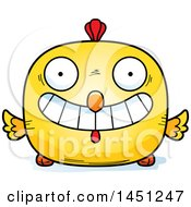 Cartoon Grinning Chick Character Mascot
