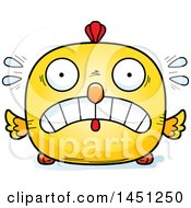 Cartoon Scared Chick Character Mascot