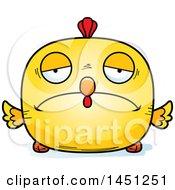 Poster, Art Print Of Cartoon Sad Chick Character Mascot