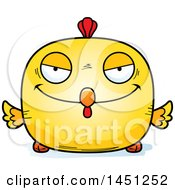 Cartoon Sly Chick Character Mascot