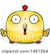 Cartoon Surprised Chick Character Mascot