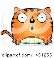 Clipart Graphic Of A Cartoon Surprised Tabby Cat Character Mascot Royalty Free Vector Illustration