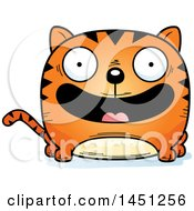 Clipart Graphic Of A Cartoon Happy Tabby Cat Character Mascot Royalty Free Vector Illustration by Cory Thoman